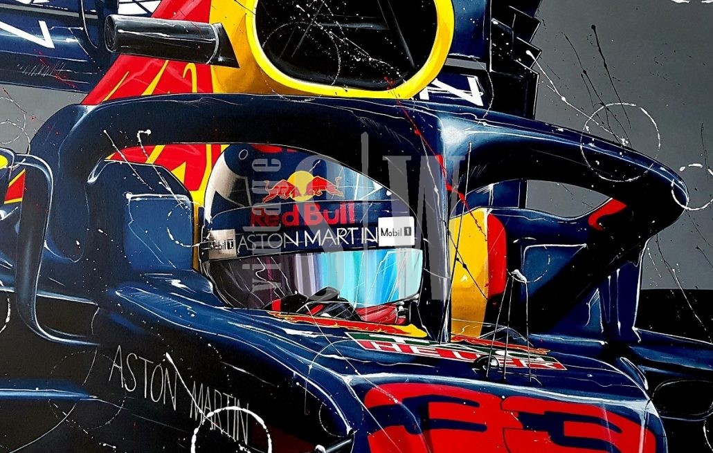 Max_verstappen canvas print halo f1 2019 small