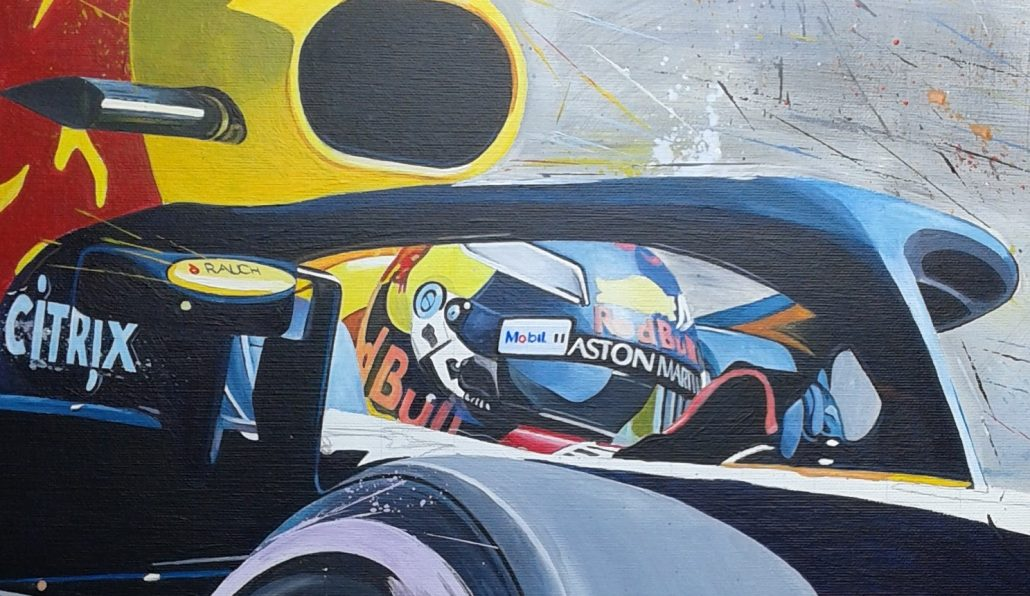 Max_verstappen_art-schilderij_redbull_vintage_speedworks collection